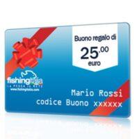 BUONO REGALO DEL VALORE DI 25,00 EURO  - FISHINGITALIA