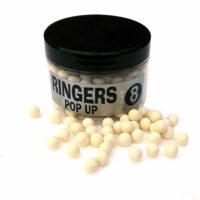 Boilies White Shellfish Pop up 8 mm RINGERS - 60 gr