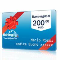 BUONO REGALO DEL VALORE DI 200,00 EURO  - FISHINGITALIA