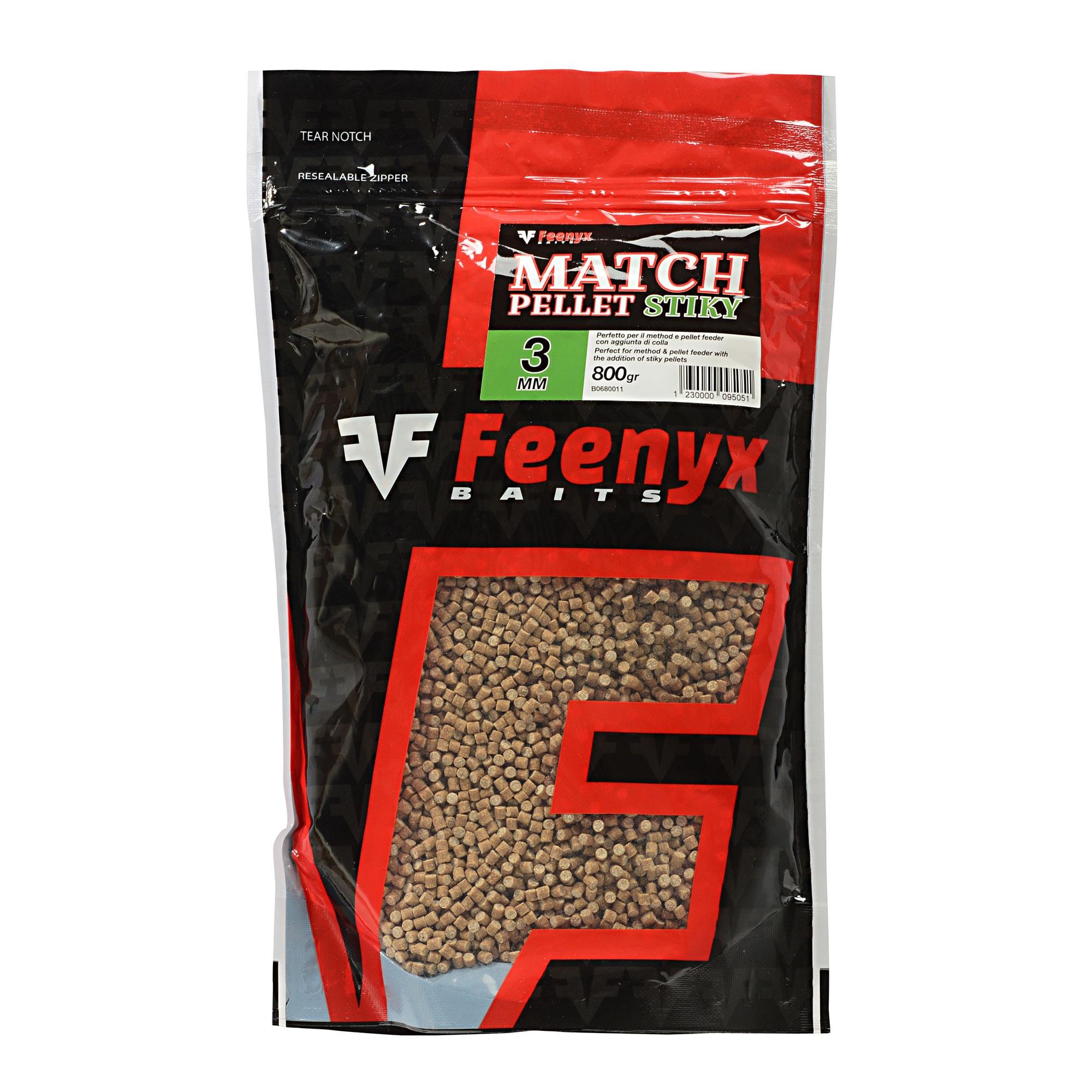 Match Pellet Stiky 3mm FEENYX BAIT (800gr.)