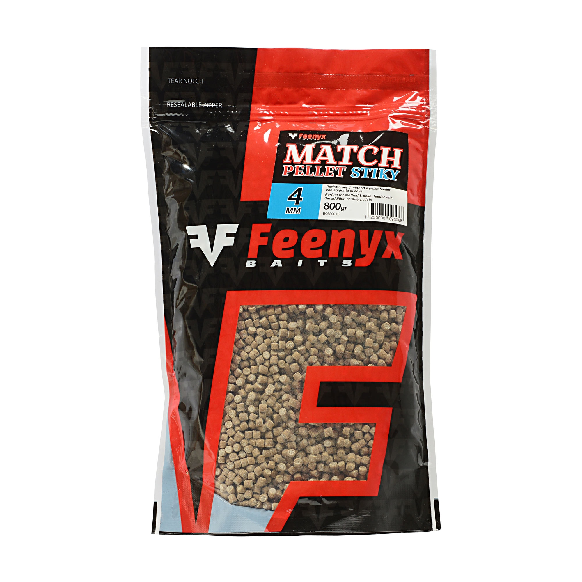 Match Pellet Stiky 4mm FEENYX BAIT (800gr.)