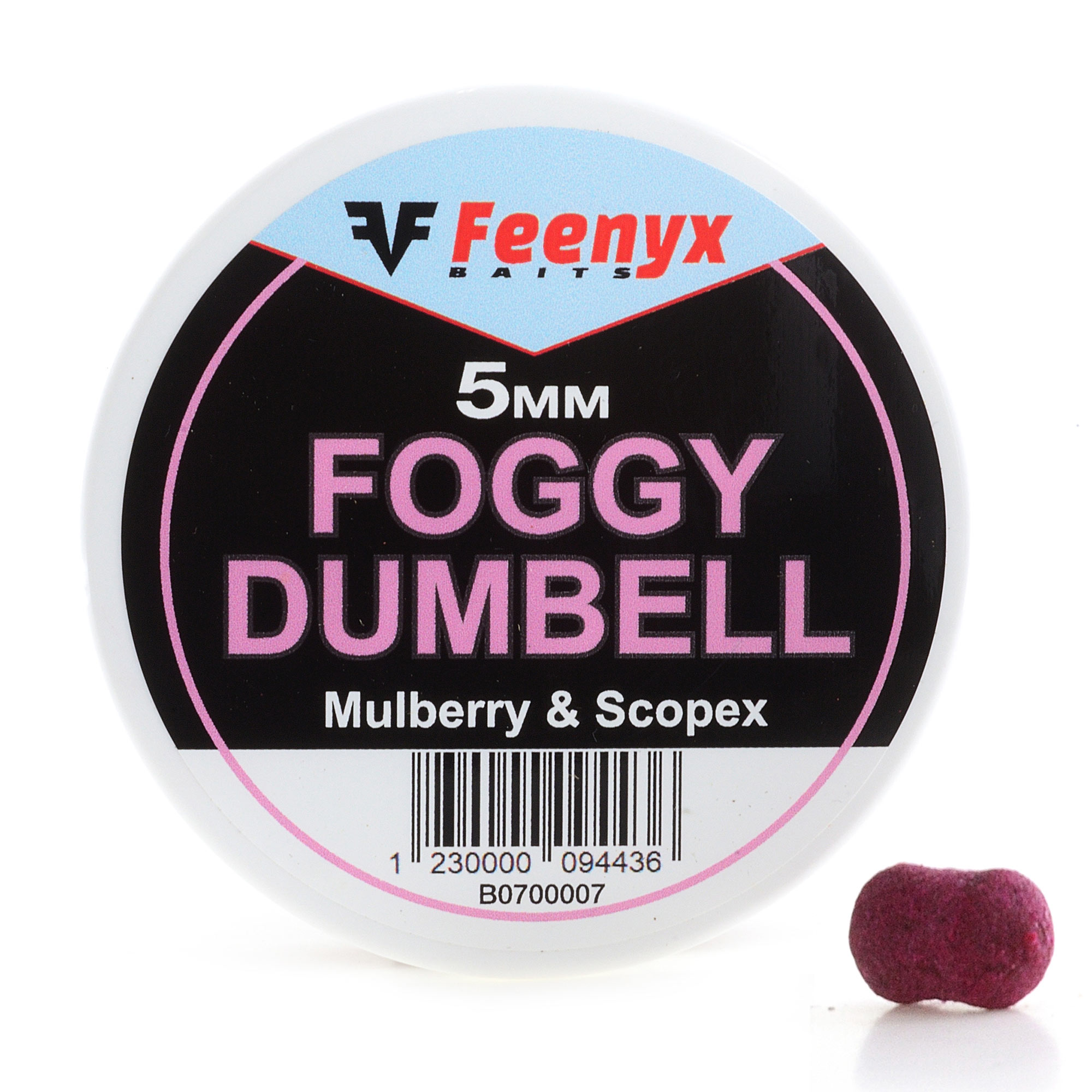 Foggy Dumbell Mulberry & Scopex 5mm FEENYX BAIT