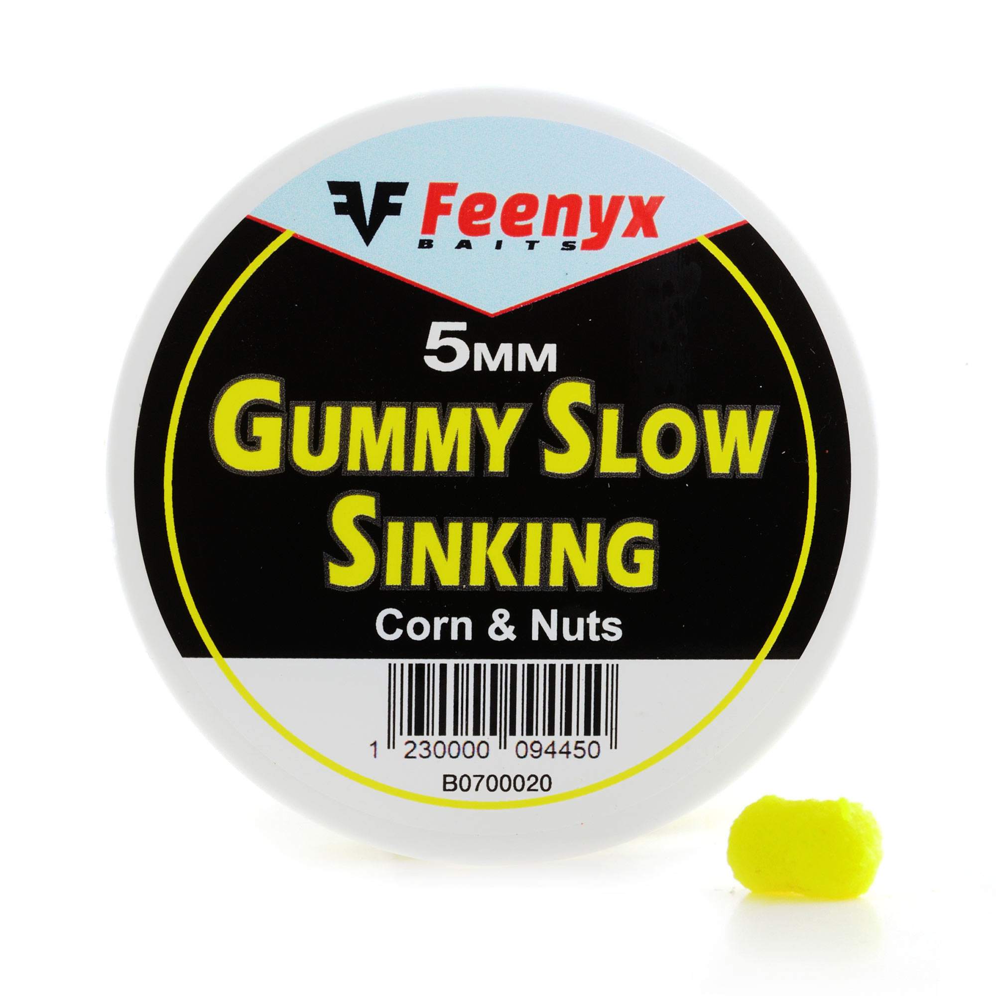 Gummy Slow Sinking Corn & Nuts 5mm FEENYX BAIT