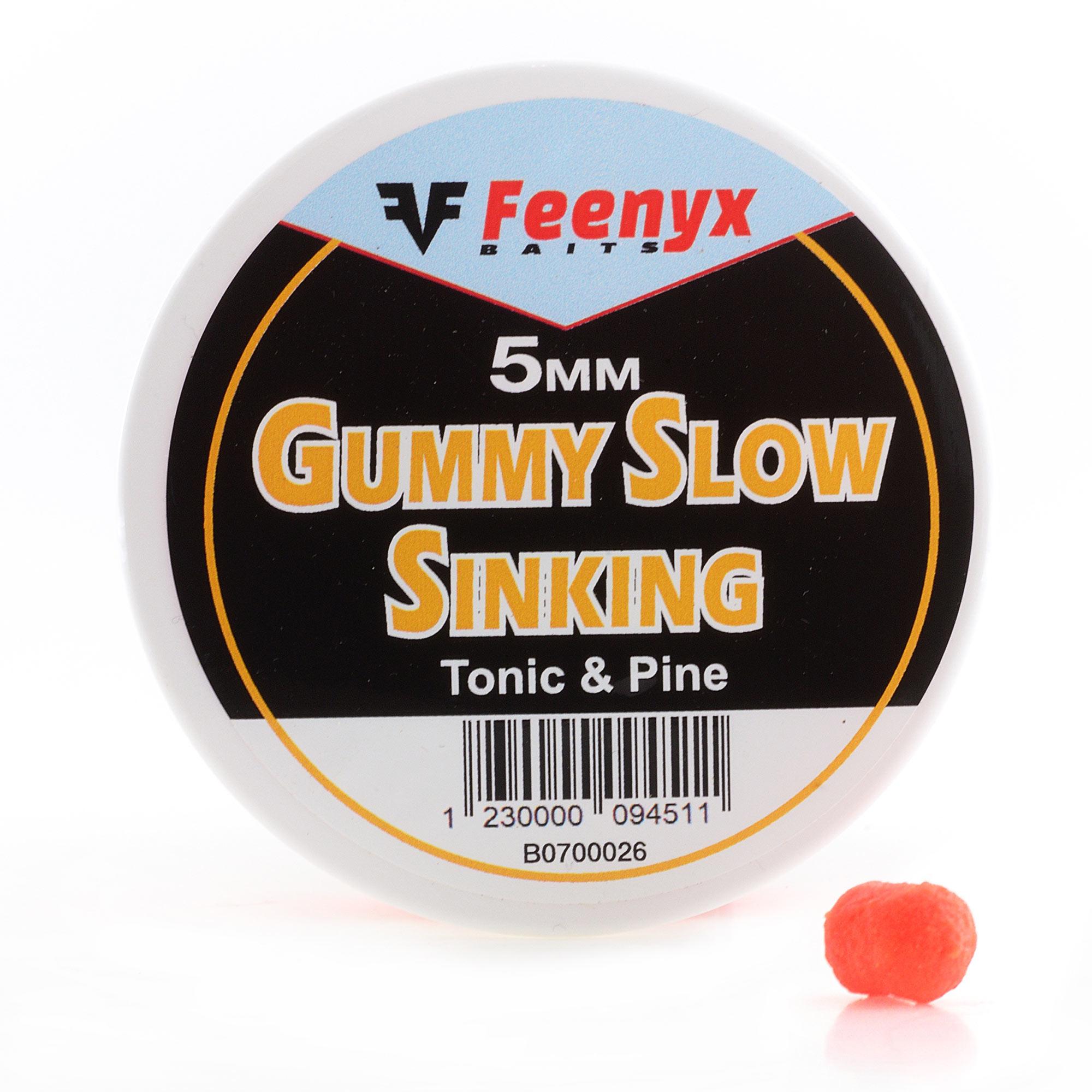 Gummy Slow Sinking Tonic & Pine 5mm FEENYX BAIT