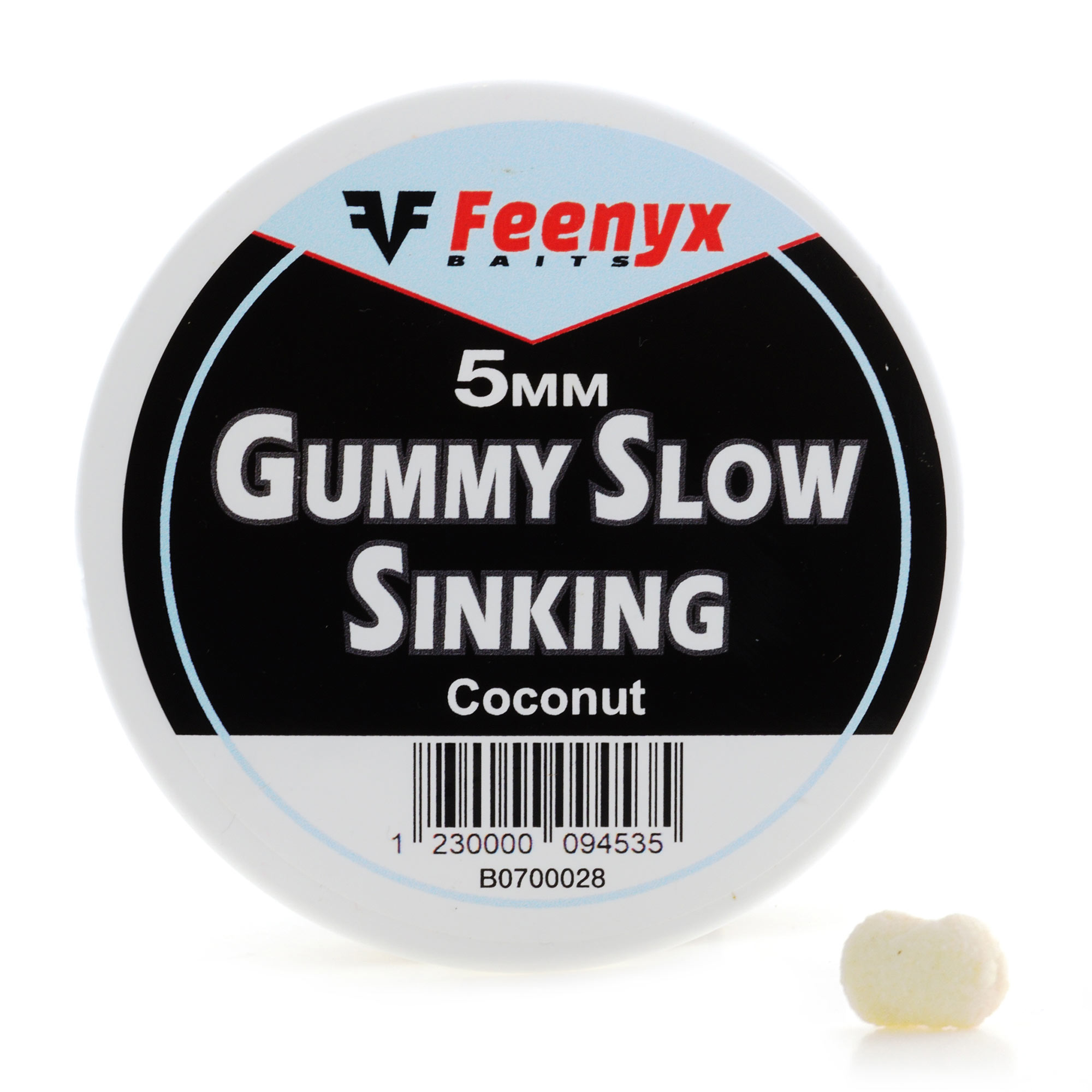 Gummy Slow Sinking Coconut 5mm FEENYX BAIT